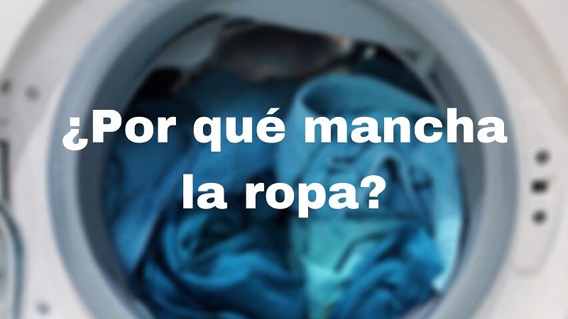 lavadora mancha ropa