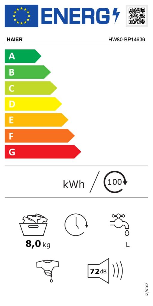 Haier HW80-BP14636-IB etiqueta energetica